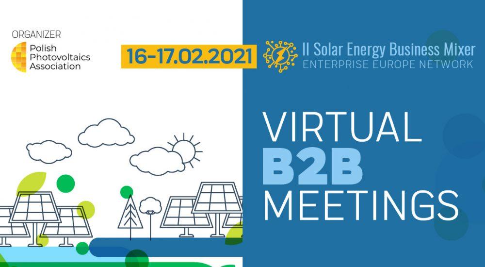 II Solar Energy Business Mixer – Online B2B Meetings